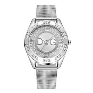 ❤Womens Rhinestone Quartz Watches,Ladies Watches Sale Clearance,Fashionable High Hardness Glass Mirror Men and Women Stainless Steel Band Analog Quartz Round Wrist Watch Watches (Silver1)