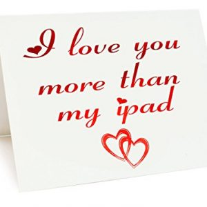 A5 Foiled Anniversary / Valentines Day / Love / Birthday Card - My Ipad Themed
