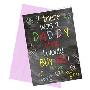 #276 DADDY DAD BIRTHDAY / FATHERS DAY CARD / Comedy / Rude / Funny / Humour / Birthday / Valentine Card A4 folded to A5 (210 x 148mm when folded) By: Close to the Bone