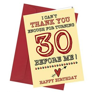 #280 BIRTHDAY GREETING CARD 30th Birthday Card / Comedy / Rude / Funny / Humour / Birthday / Valentine Card A4 folded to A5 (210 x 148mm when folded) By: Close to the Bone