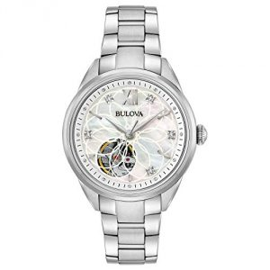 Bulova Womens Analogue Automatic Watch with Stainless Steel Strap 96P181