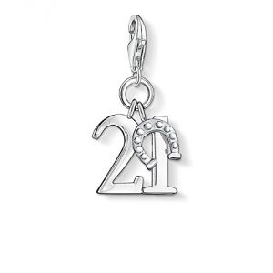 Thomas Sabo Women-Charm Pendant Lucky number 21 Charm Club 925 Sterling Silver 0460-001-12