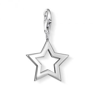 Thomas Sabo Women-Charm Pendant Star Charm Club 925 Sterling silver 0857-001-12