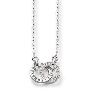 Thomas Sabo Women's Together Forever Silver Zirconia Necklace of Length 40-45cm SCKE150159
