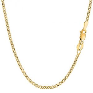 14 Carat / 585 Yellow Gold Rolo Link Belcher   Necklace Unisex- Width 2.70 mm - Various Lengths Available