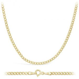 14 Carat/585 Curb Chain Yellow Gold - Width 2.3 mm - Choice of Length (50)