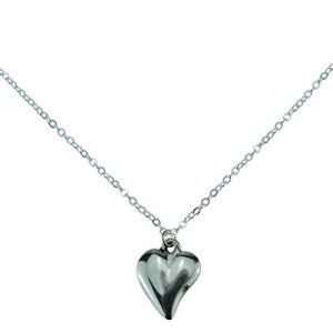 10th Year Wedding Anniversary Off Shaped Necklace Pendant - Made From 100% Pure Tin For the 10th Anniversary