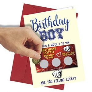 #177 Scratch Card GREETINGS BIRTHDAY Card Greeting Card rude funny humour joke novelty crude cheek A4 folded to A5 (210 x 148mm when folded) By: Close to the Bone