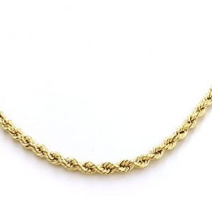 18 Carat /750 Yellow Gold Rope Chain 2.50 Mm Available in Various Lengths (60)
