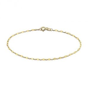 TJC 9ct Yellow Gold Valentino Chain Bracelet for Women and Girls Size 7.25 Inches, Pretty Gift for Loved One