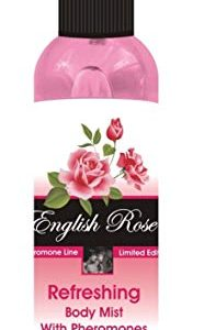 100% Vegan English Rose Refreshing body mist with pheromones 100ml for her sexual attraction