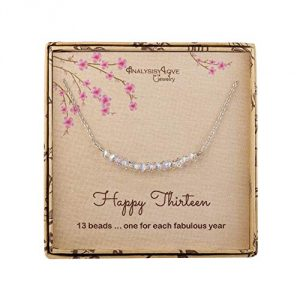 13th Birthday Gifts for Girls, Sterling Silver Beads Necklace for 13 Year Old Girl Jewelry Gift