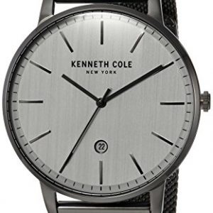 Kenneth Cole New York Men's Quartz Stainless Steel Casual Watch, Color:Grey (Model: KC50009003)