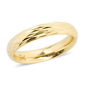 TJC 9ct Yellow Gold Band Ring for Women